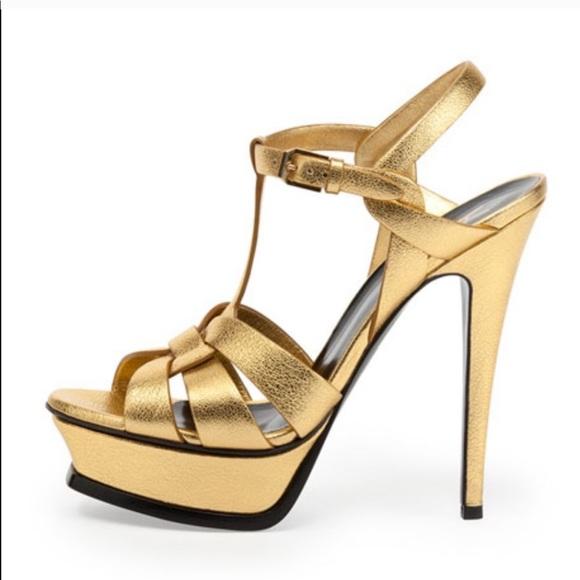 Yves Saint Laurent Shoes   Ysl Metallic